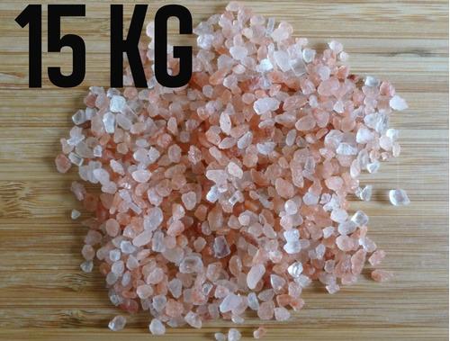 Sal Rosa Do Himalaia Grosso Importado Iodado 15 Kg Com Laudo