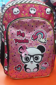 Mochila Escolar Infantil Feminina Menina Costas Panda Barato
