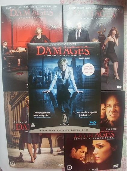 Coleçao Box Dvd + Blu Ray Serie Damages 1° A 5° Temporada