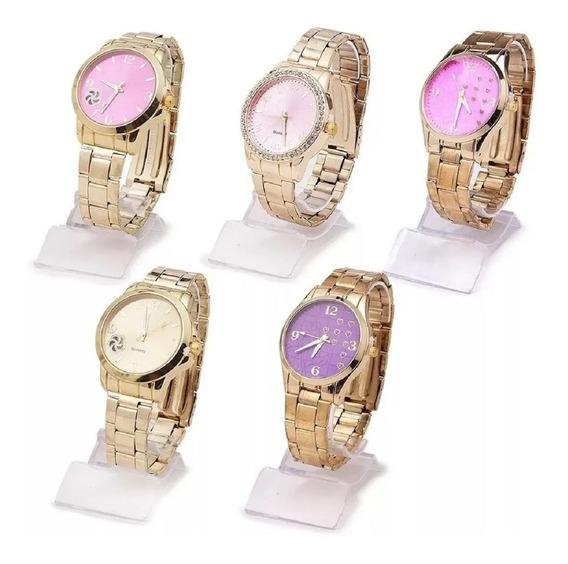 Kit Com 8 Relógios Feminino Atacado + Caixas + Baterias !
