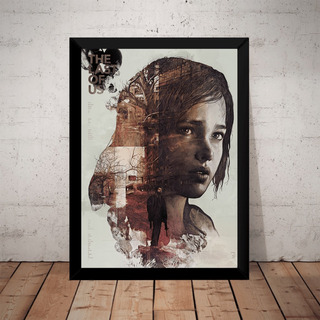 Quadro Game The Last Of Us Arte Poster Moldurado