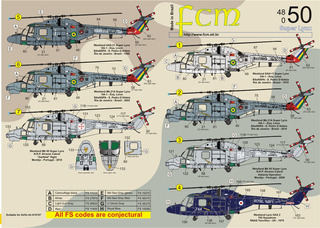 Decalque Helicoptero Super Lynx 1/48 Decal Fcm 48050