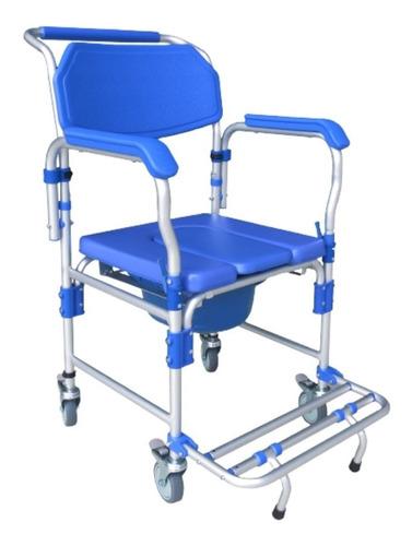 Imagem 1 de 6 de Cadeira De Banho Idoso Alumínio Dobrável