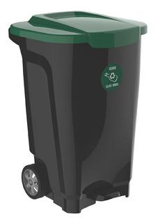 Cesto Tacho De Basura Basurero Reciclable 100 Litros Rueda