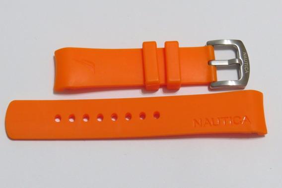 Pulseira Relogio Nautica 22mm Laranja - Frete Grátis