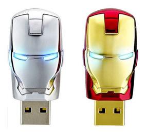 Pen Drive 128gb Homem De Ferro - Iron Man - Pronta Entrega