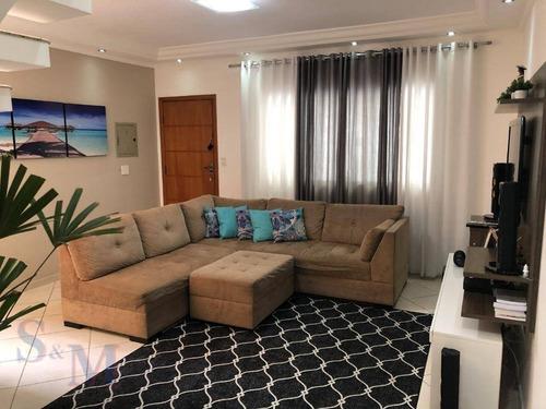 Imagem 1 de 23 de Sobrado Com 3 Dormitórios À Venda, 121 M² Por R$ 520.000,00 - Jardim Das Maravilhas - Santo André/sp - So0420