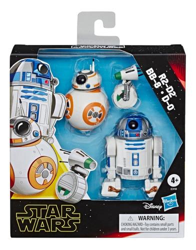 Imagen 1 de 3 de Set De Figuras R2-d2 , Bb-8 Y D-0 Star Wars - Hasbro