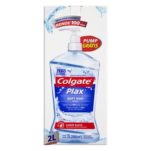 Enxaguatório bucal Colgate Plax soft mint 2 L