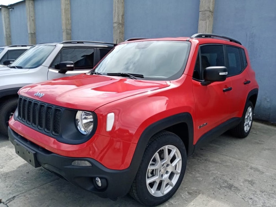 Jeep Renegade Sport Plus 1.8 Aut 2020 Rojo Colorado