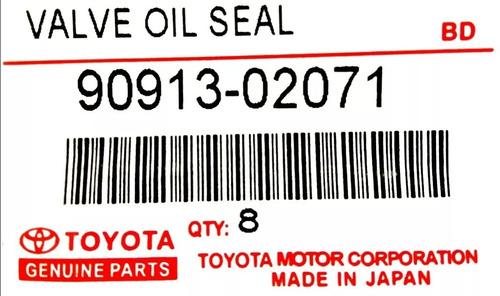 Goma Valvula Toyota Corolla Baby Camry 1.6 - 1.8  8 Pzas Nok