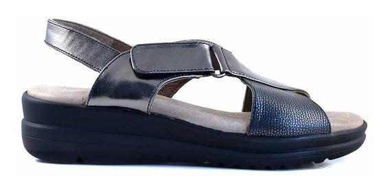Sandalia Cuero Mujer Briganti Zapato Confort Goma Mcsd02349