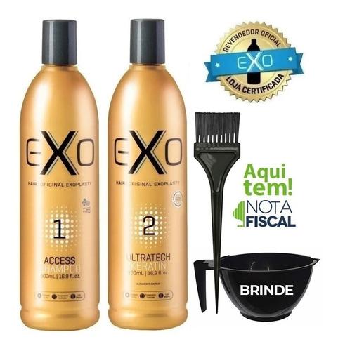 Exohair Alisamento Exoplastia Capilar 2x500ml + Brinde!