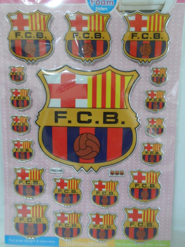 Sticker Etiqueta Calcomanía 3d Adhesivo Logo Barcelona