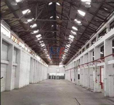 Ref 8842 - Excelente Galpão Comercial E Industrial Para Locação No Bairro Parque Da Mooca, 4013 M, Pé Direito Alto Com 13 Metros ! - 8842