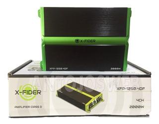 Planta Xfider 2000w 4ch Amplificador Xf-1250.4df