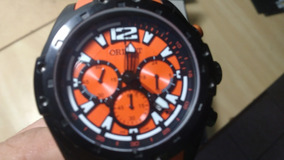 Relógio Orient Laranjado Chronograph - Ñ Flytech Ñ Sea Tech