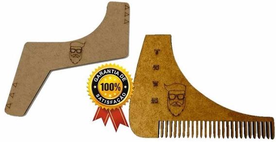 Pente Alinhador Régua Como Modelar A Barba Bigode Promoção!