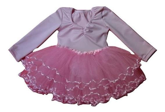 Malla Bailarina Danza Con Tutu Ballet Clasico Rosa