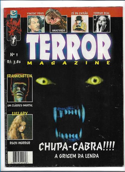 Terror Magazine Ed1 Revista Chupa-cabra Frankenstein Lullaby
