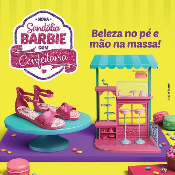 Sandália + Brinquedo Confeitaria Da Barbie