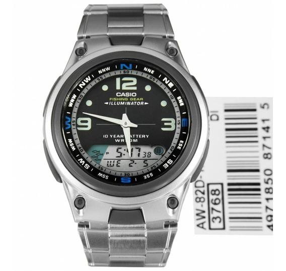 Relógio Casio Aw-82d-1avdf Fishing Level Masculino