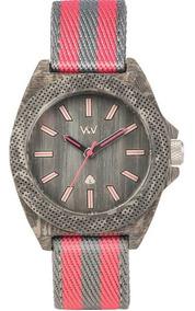 Relógio De Madeira Wewood Phoenix Teak Pink - Wwph03