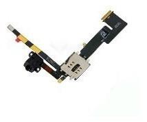 Bandeja Chip Sim Áudio Jack Cabo Flex iPad 2 3g - Cód: J33