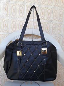Bolsas Femininas - Fashion Com Detalhes Dourado