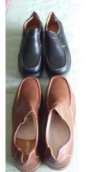 Zapatos Marrones Y Negros Nuevos