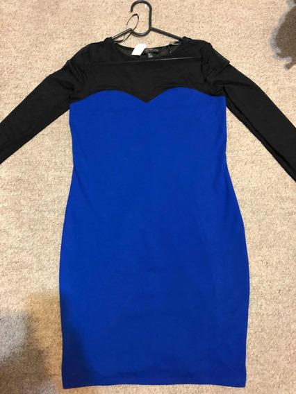 Forever 21 Vestido Azul Talla 2x