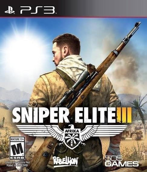 Sniper Elite 3 Ps3 Legendado Br - Mídia Digital Envio Ja