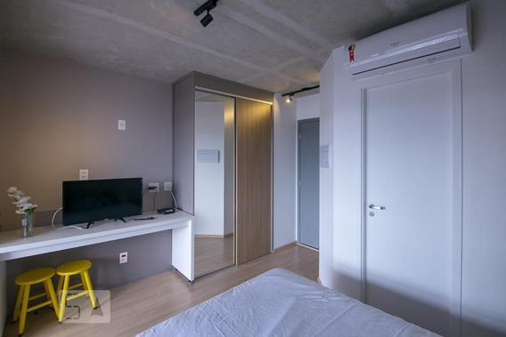 Studio No 3º Andar Mobiliado Com 1 Dormitório - Id: 892990528 - 290528