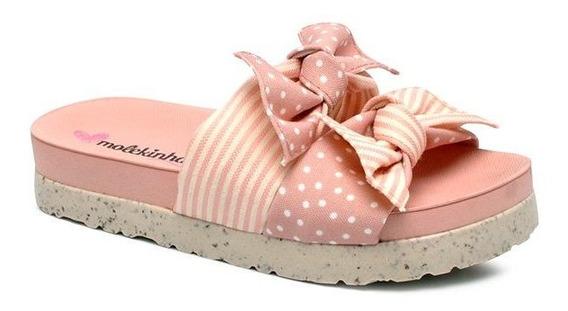Chinelo Infantil Slide Molekinha 2320306 Pêssego/rosa
