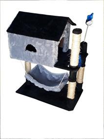 Arranhador, Com Casa E Rede Para Gatos,brinquedo Pet