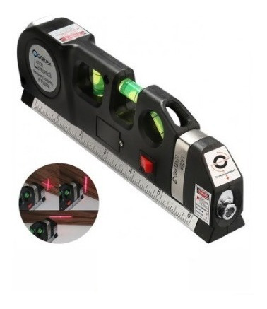 Flexómetro Nivel Láser Lever Pro 3 En 1
