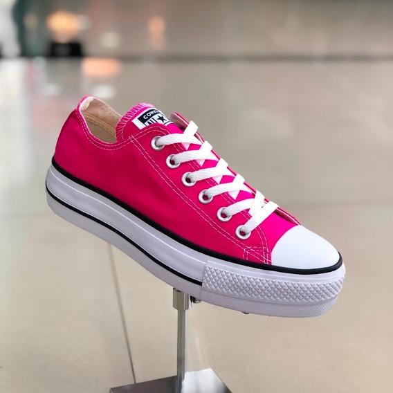 Tênis Converse All Star Rosa Pink Lona Plataforma - Lj Att