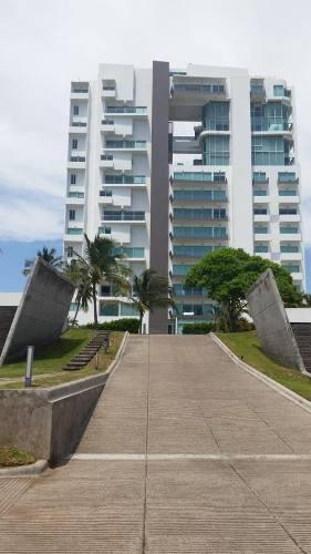 Torre Rambla, Departamento En Renta Amueblado, Con Acabados De Lujo, Alberca Y Embarcadero. Vista Al Río Y Al Mar. En La Riviera Veracruzana
