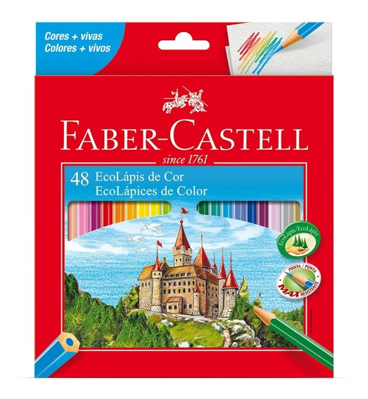 Lapices De Colores Faber Castell X48u + Sacapuntas Gratis