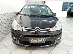 Citroen C3 Attraction 1.5 Flex 2016 Preto Manual Único Dono