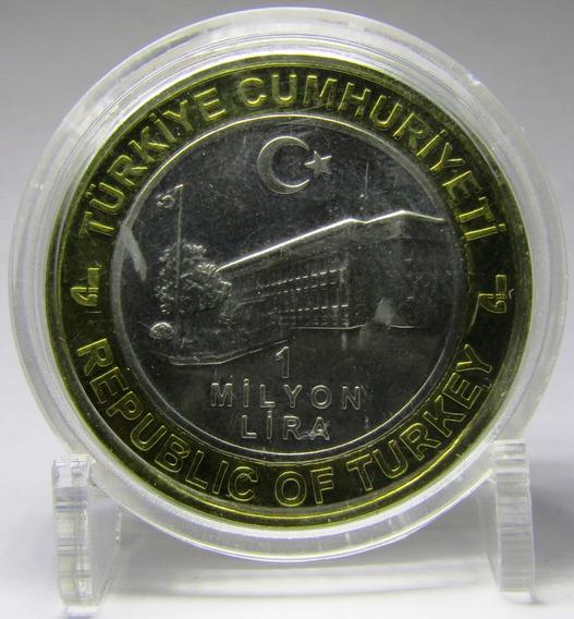 Turquia Moneda 1000000 Liras 2003 Bimetalica En Capsula Unc
