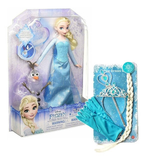 Muñeca Elsa Frozen Vestido Musical - Hasbro + Set Princesa