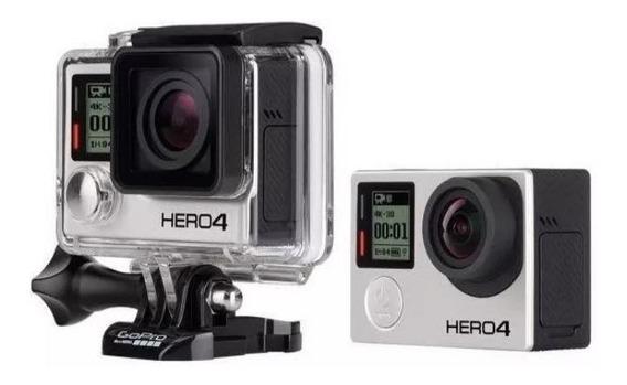 Camera Gopro Hero 4 + Micro Fone Duda Cell, Cartão De Memori