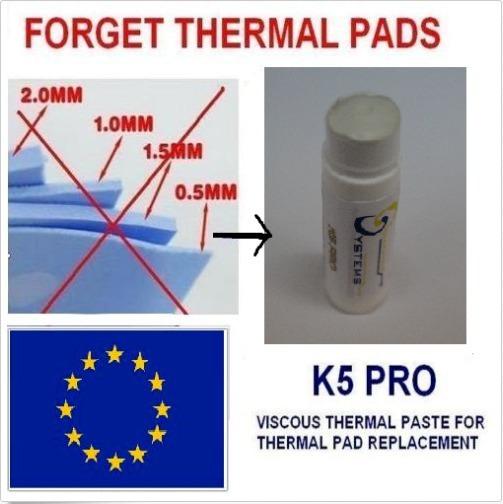 Thermal Pad Em Pasta, Thermal Pad 20gr K5 Pro