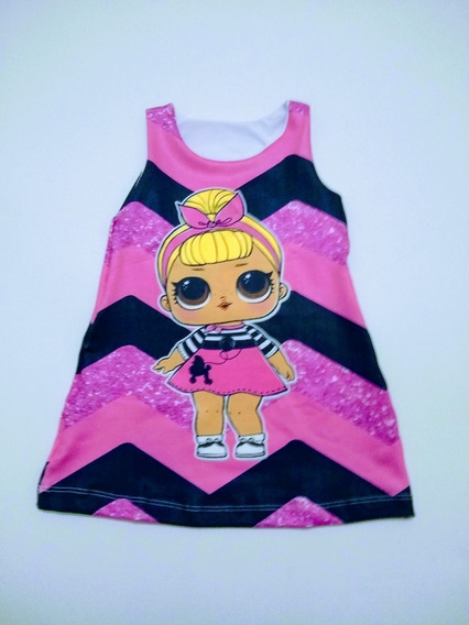 Vestido Trapézio Suplex Infantil Lol Minnie Moana Frozen Tam 6