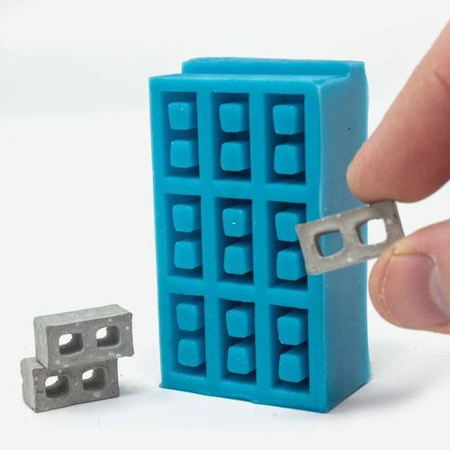 Imagen 1 de 3 de Mini Materiales Molde De 9 Piezas De Bloque De Cemento A...