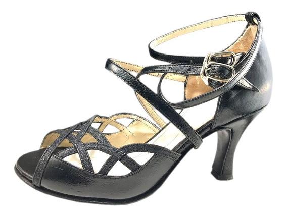 Zapatos De Baile Tango Salsa Bachata Rock Fiesta Taco 6,5
