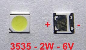 Kit 35 Chip Super Power Led 2w 6v 3535 Branco Frio - M.e