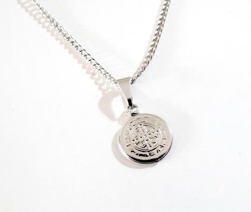 Colar Medalha São Bento Pequena Aço Inox