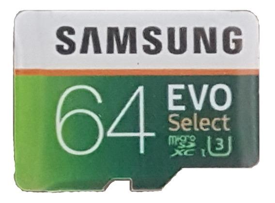 Cartão De Memória Micro Sdxc 64gb Classe 10 (u3)